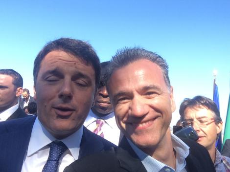 Matteo Renzi e Vittorio Viarengo